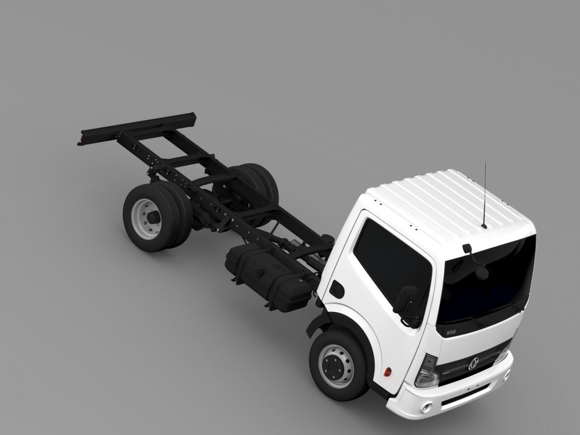 dongfeng n300 captain chassi 2015 3d model 3ds max fbx c4d lwo ma mb hrc xsi obj 208960
