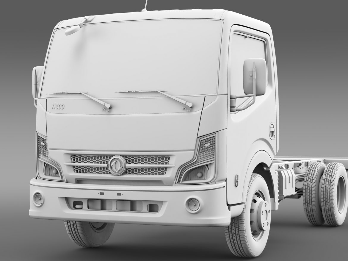 dongfeng n300 captain chassi 2015 3d model 3ds max fbx c4d lwo ma mb hrc xsi obj 208964