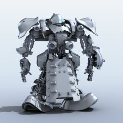 Robot 07 3d model 3ds max fbx obj