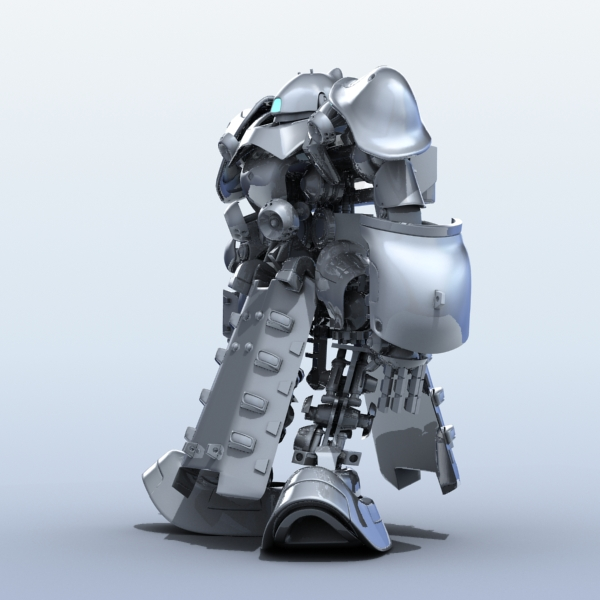 robot 07 3d model 3ds max fbx obj 208971
