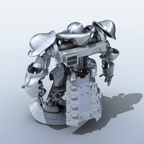 robot 07 3d model 3ds max fbx obj 208972