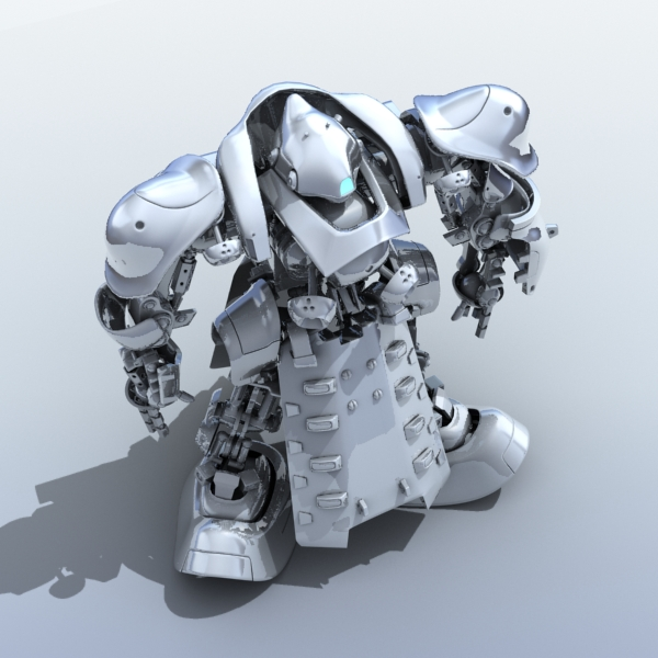 robot 07 3d model 3ds max fbx obj 208973