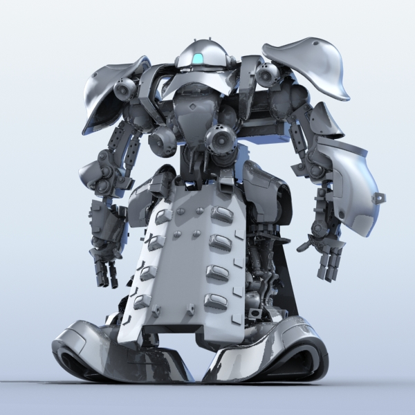 robot 07 3d model 3ds max fbx obj 208974