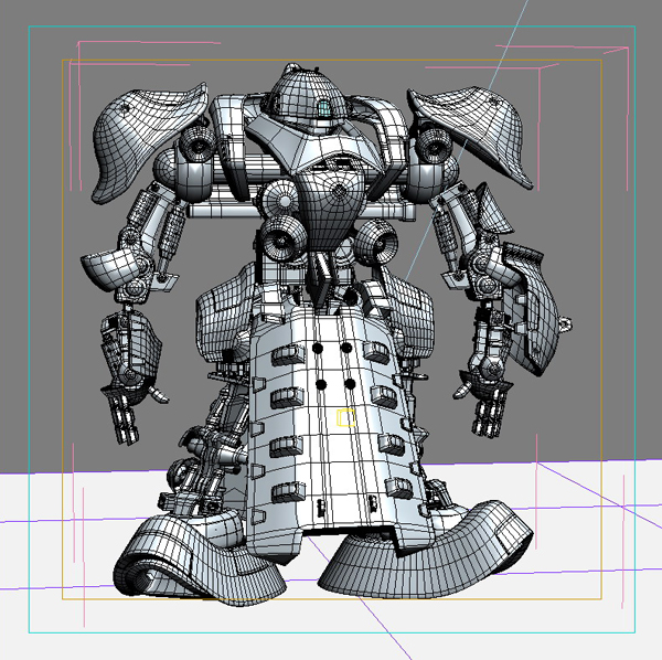 robot 07 3d model 3ds max fbx obj 208975