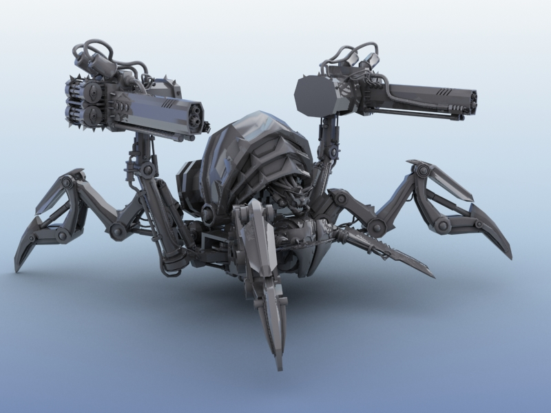 robot spider 3d model 3ds max fbx obj 208977