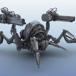 Robot Spider 3d model 3ds max fbx obj