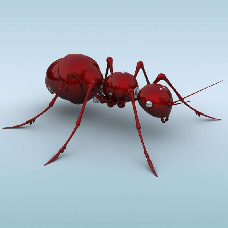 mechanical ant 3d model 3ds max fbx obj 208985