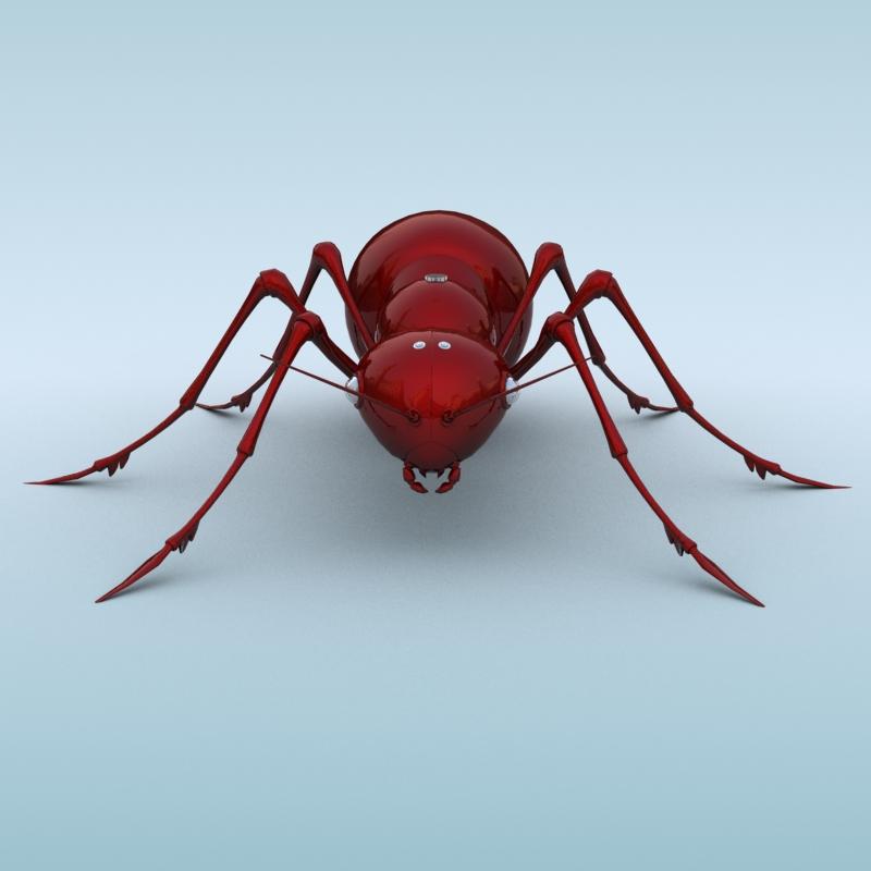 mechanical ant 3d model 3ds max fbx obj 208986