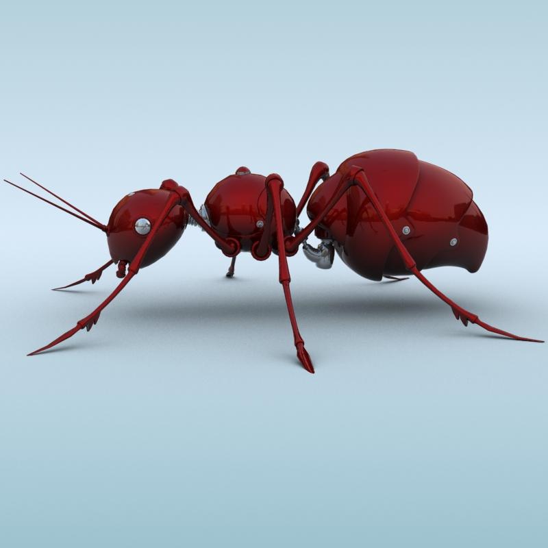 mechanical ant 3d model 3ds max fbx obj 208987