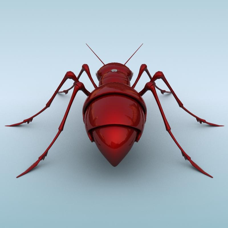 mechanical ant 3d model 3ds max fbx obj 208988