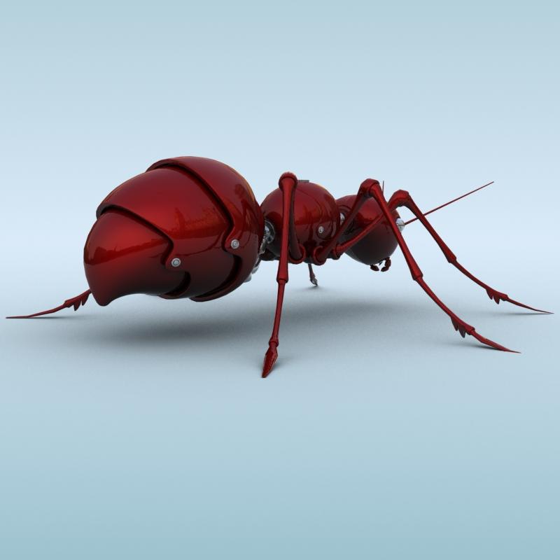 mechanical ant 3d model 3ds max fbx obj 208989