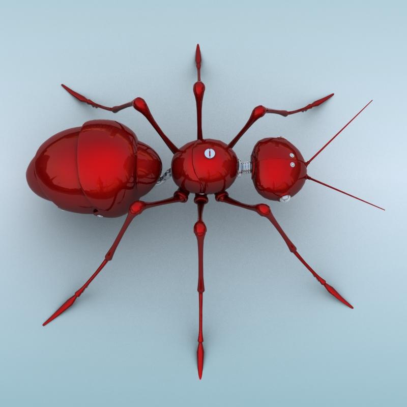 mechanical ant 3d model 3ds max fbx obj 208990