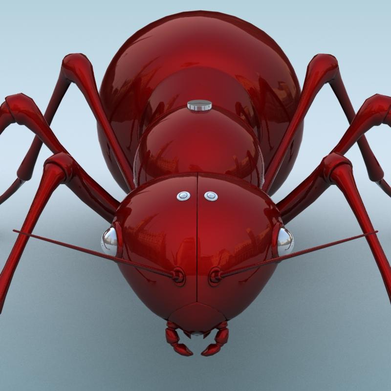 mechanical ant 3d model 3ds max fbx obj 208991