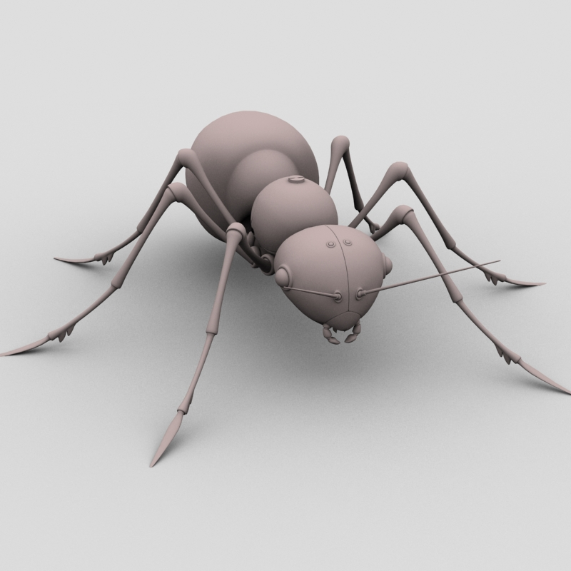mechanical ant 3d model 3ds max fbx obj 208992