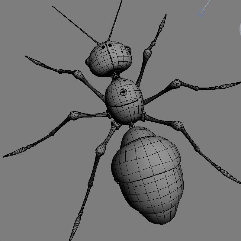 mechanical ant 3d model 3ds max fbx obj 208993
