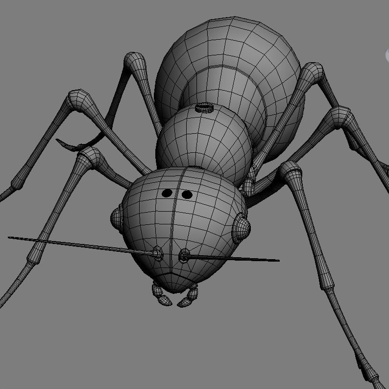 mechanical ant 3d model 3ds max fbx obj 208994