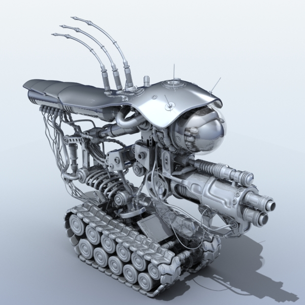 robot 08 3d model 3ds max fbx obj 208996