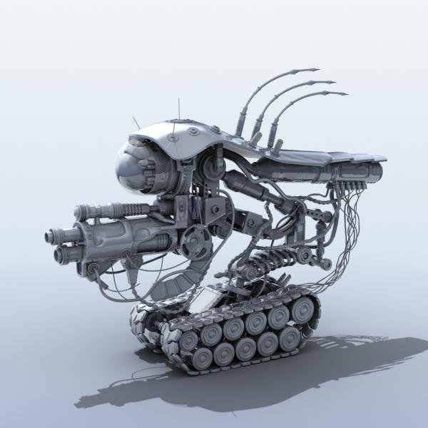 robot 08 3d model 3ds max fbx obj 208997
