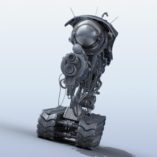 robot 08 3d model 3ds max fbx obj 208998