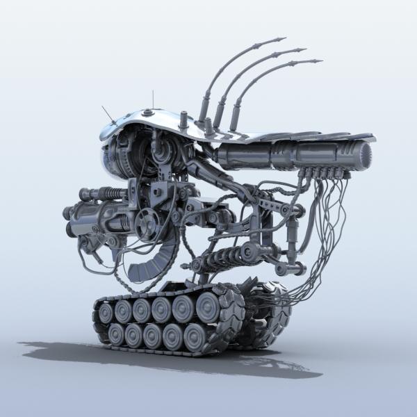 robot 08 3d model 3ds max fbx obj 209000