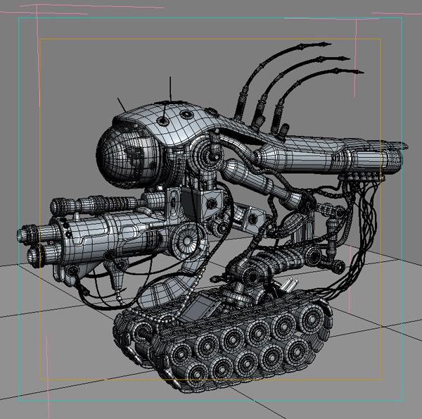 robot 08 3d model 3ds max fbx obj 209002