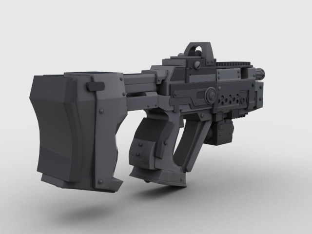 sci fi gun 01 3d model 3ds max fbx obj 209015