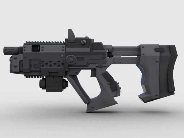 sci fi gun 01 3d model 3ds max fbx obj 209016