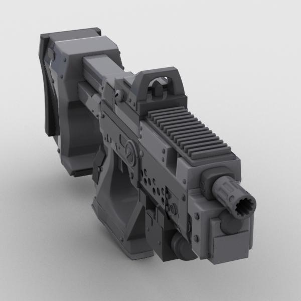 sci fi gun 01 3d model 3ds max fbx obj 209017