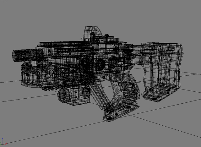 sci fi gun 01 3d model 3ds max fbx obj 209020
