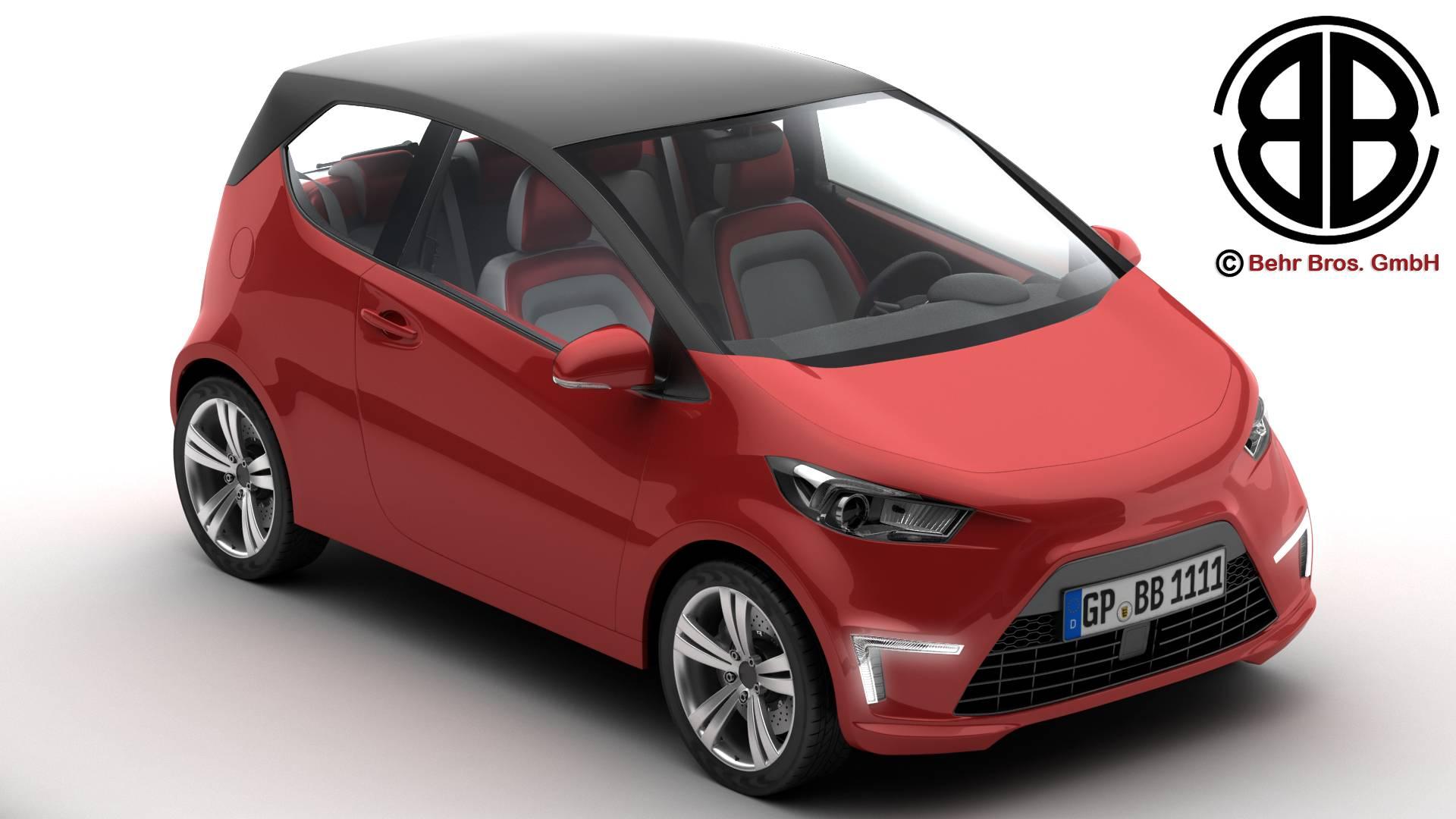 generic city car 3d model 3ds max fbx c4d lwo ma mb obj 209033