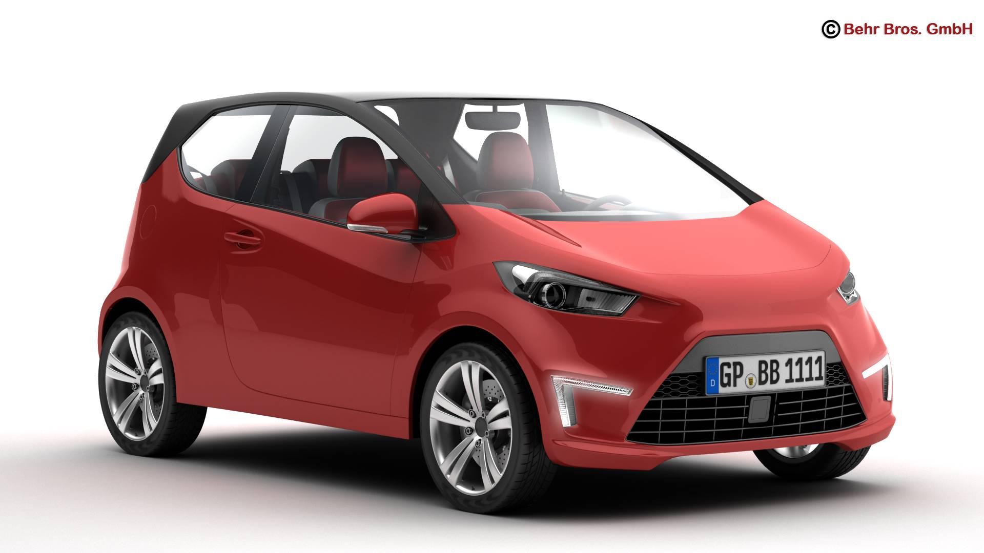 generic city car 3d model 3ds max fbx c4d lwo ma mb obj 209034