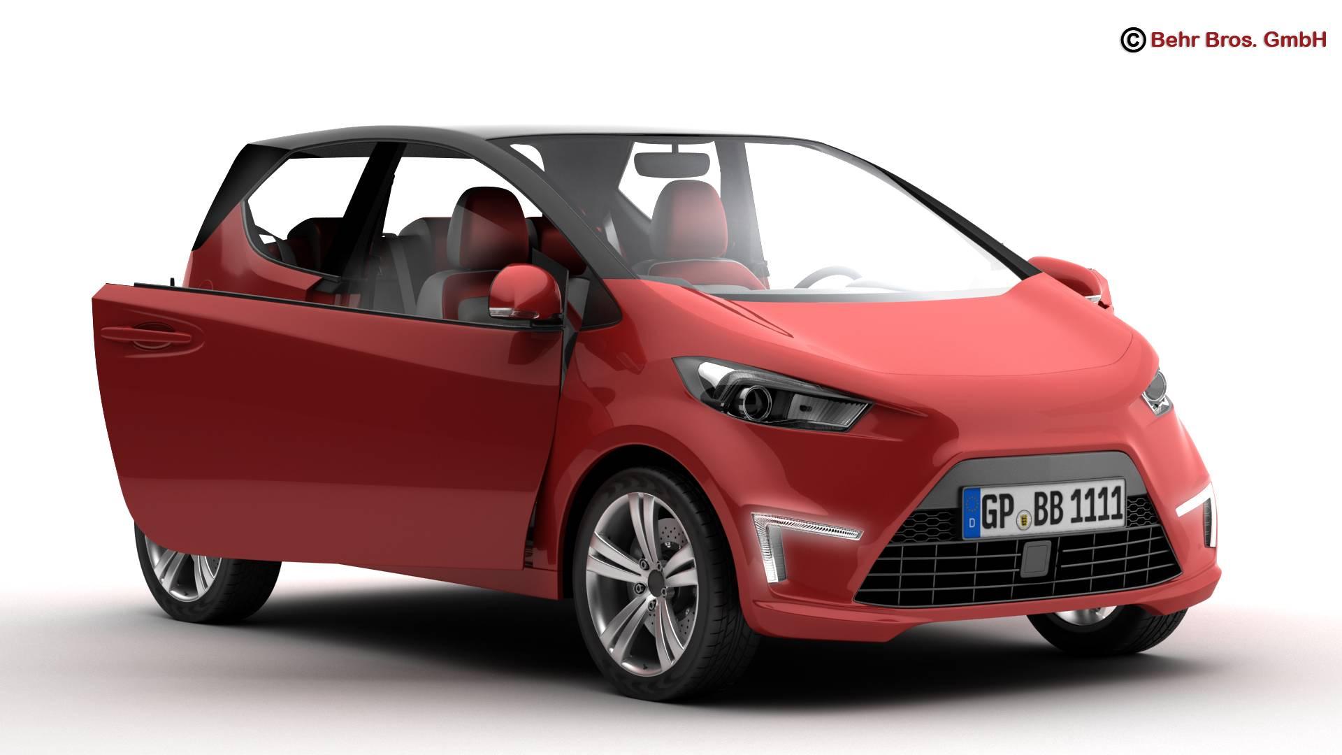 generic city car 3d model 3ds max fbx c4d lwo ma mb obj 209035
