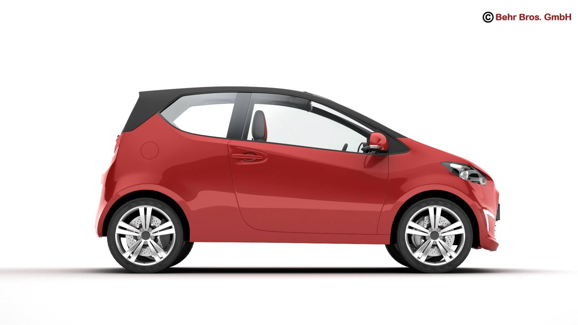 generic city car 3d model 3ds max fbx c4d lwo ma mb obj 209038