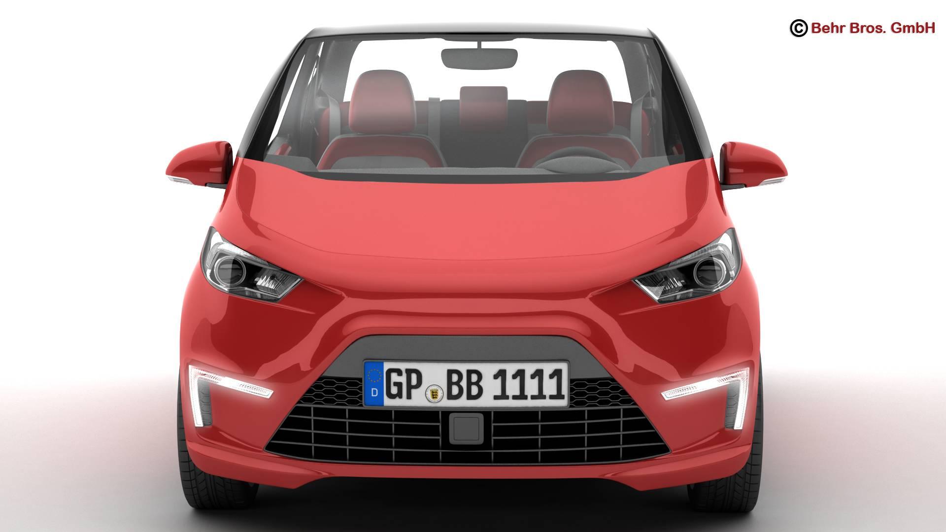 generic city car 3d model 3ds max fbx c4d lwo ma mb obj 209039