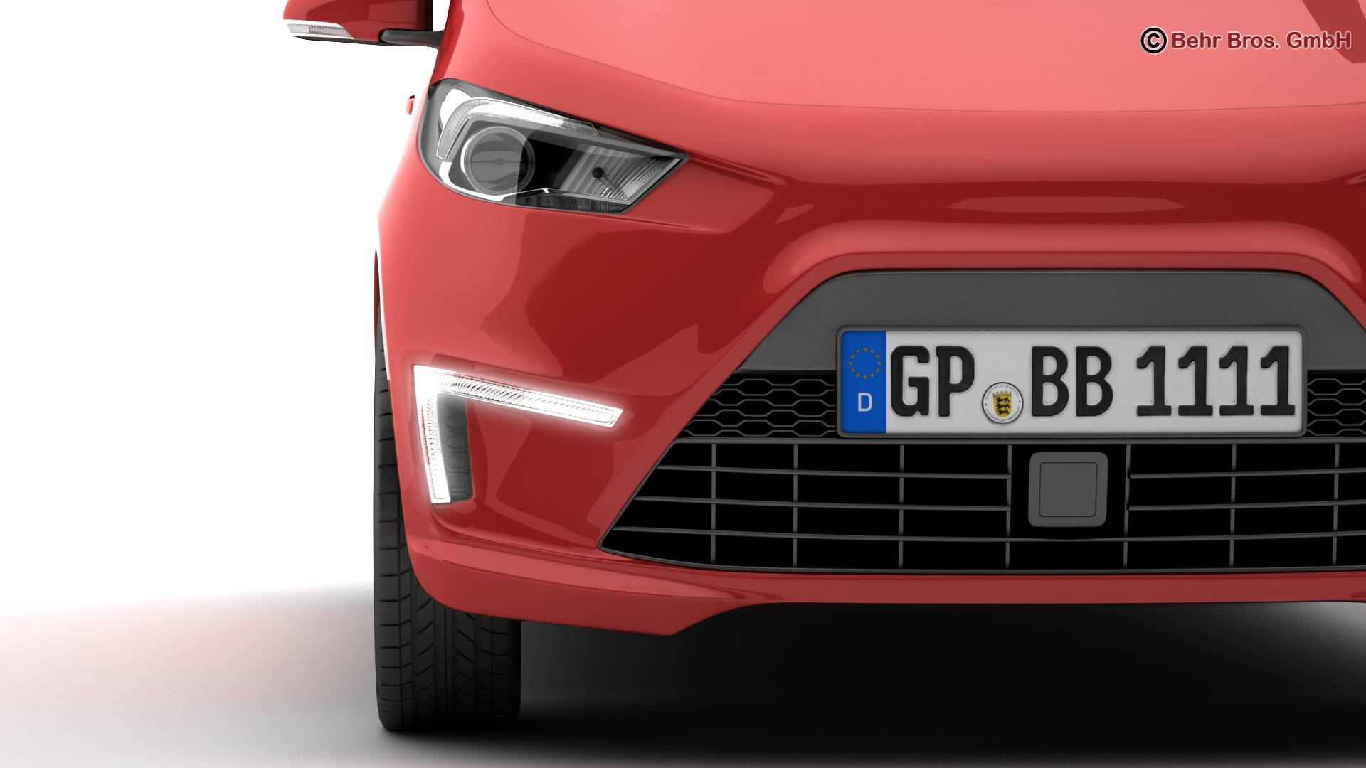 generic city car 3d model 3ds max fbx c4d lwo ma mb obj 209040