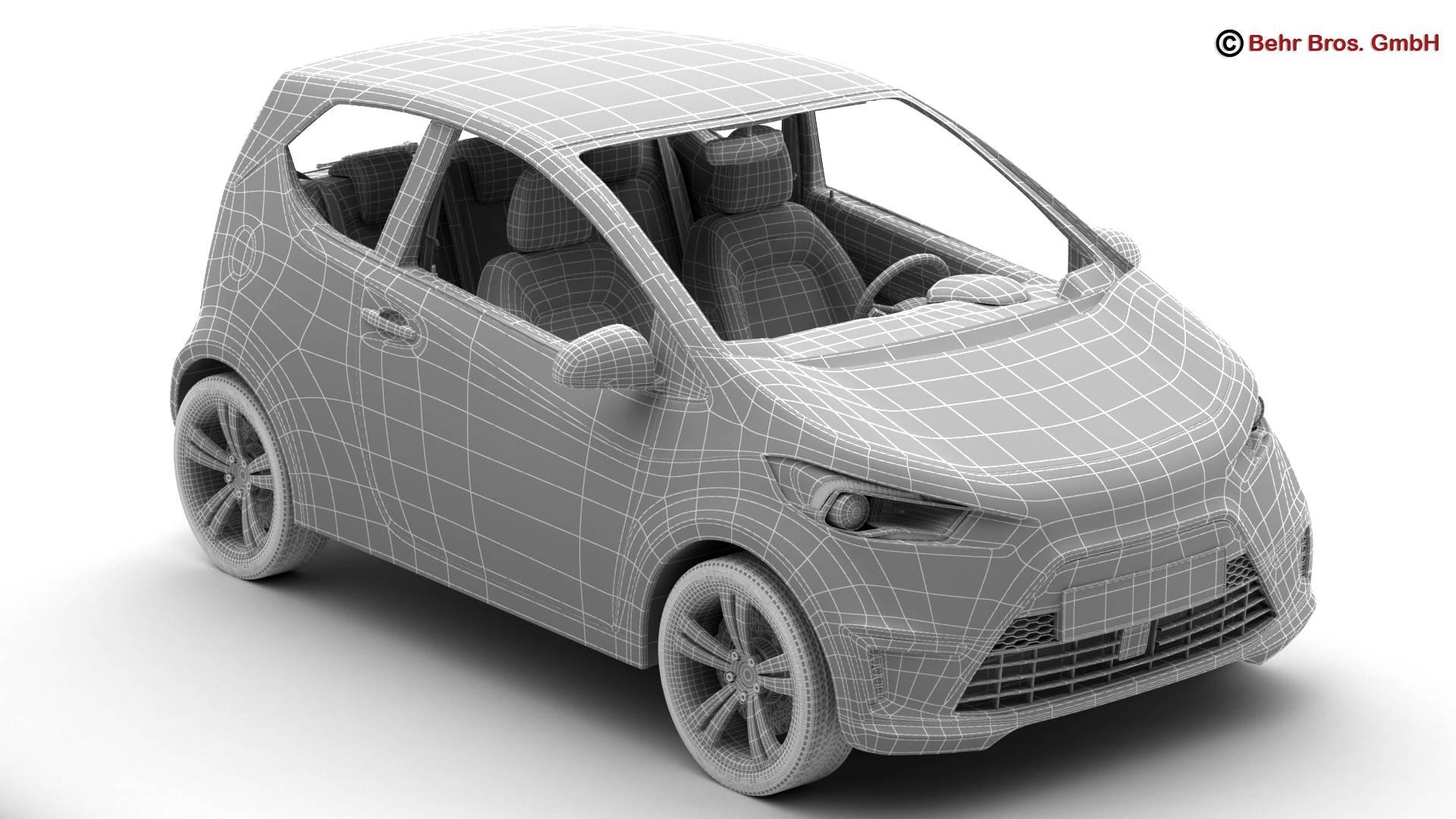generic city car 3d model 3ds max fbx c4d lwo ma mb obj 209047