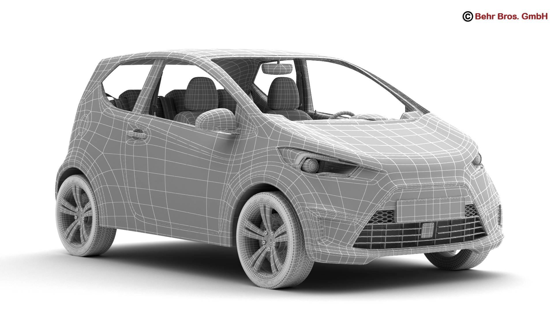 generic city car 3d model 3ds max fbx c4d lwo ma mb obj 209048
