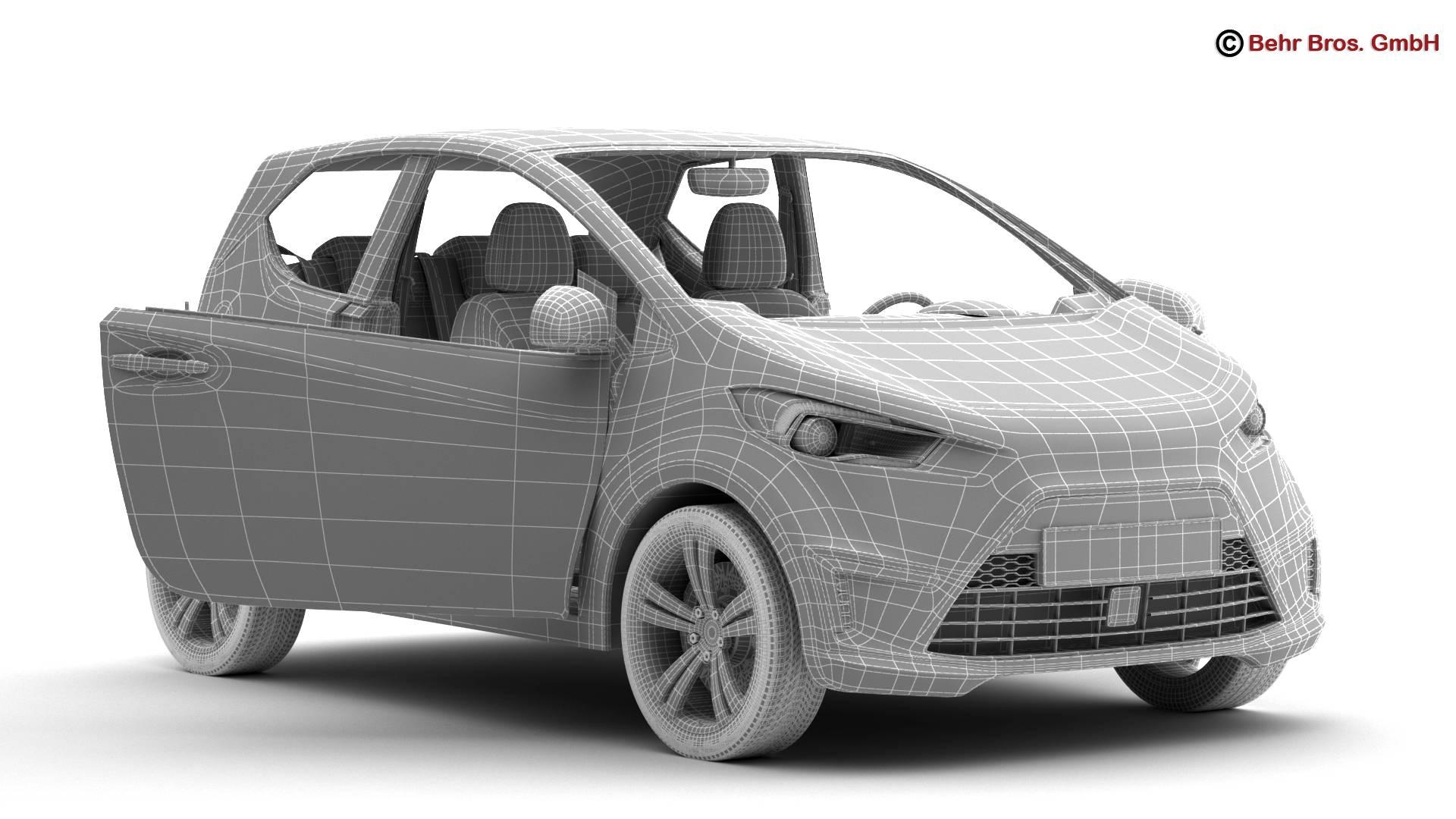 generic city car 3d model 3ds max fbx c4d lwo ma mb obj 209049