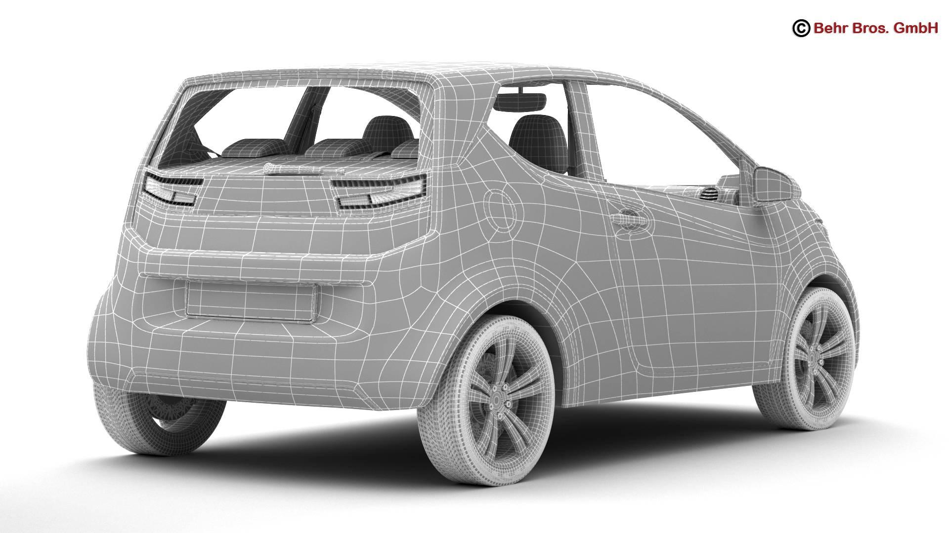 generic city car 3d model 3ds max fbx c4d lwo ma mb obj 209050