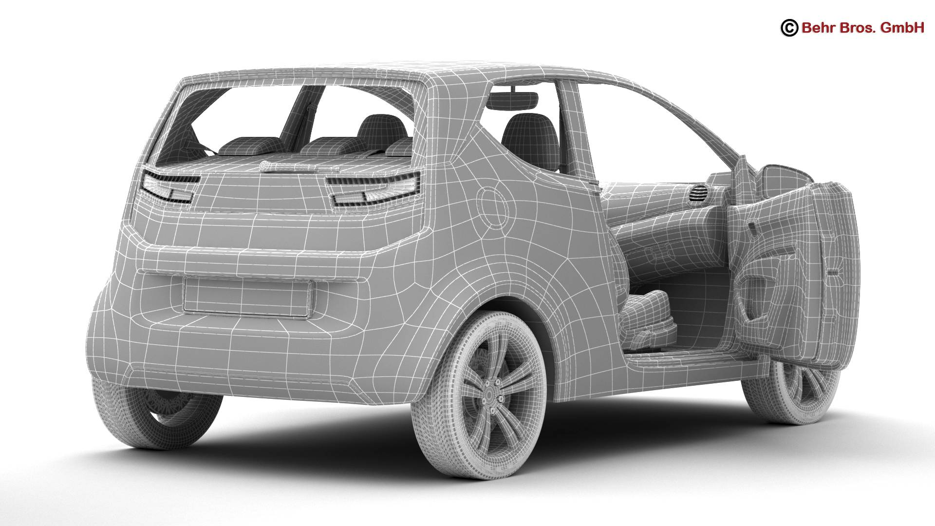 generic city car 3d model 3ds max fbx c4d lwo ma mb obj 209051