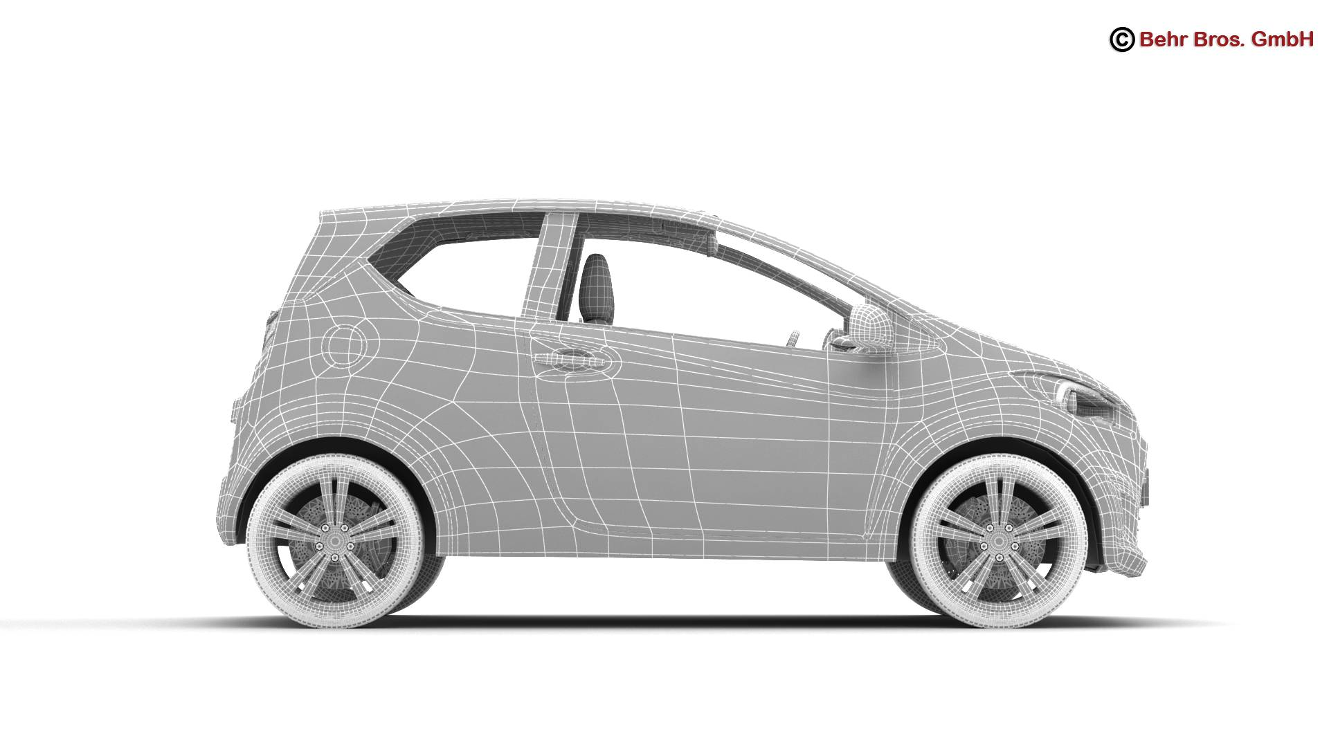 generic city car 3d model 3ds max fbx c4d lwo ma mb obj 209052