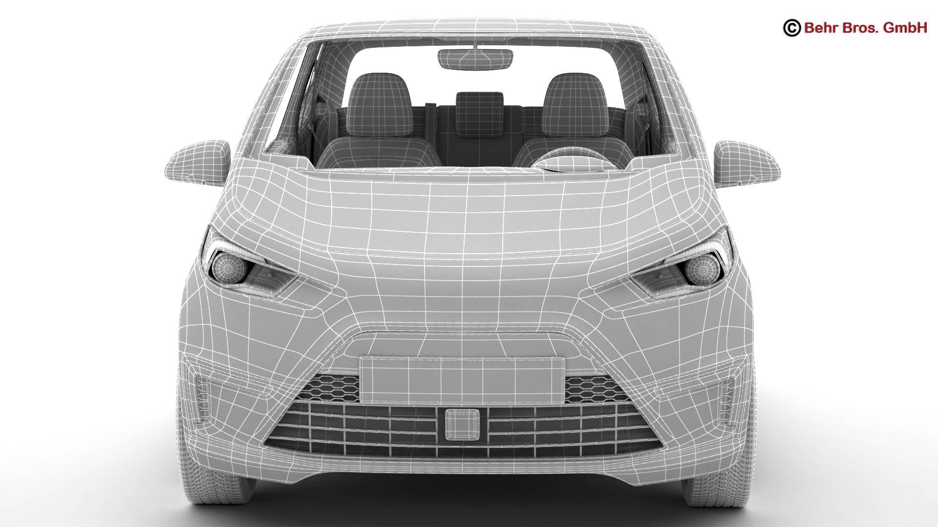 generic city car 3d model 3ds max fbx c4d lwo ma mb obj 209053