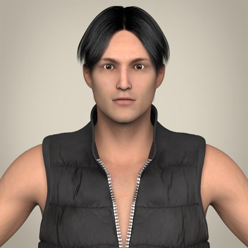 Realistic Young Handsome Man 3d model 3ds max fbx c4d lwo lws lw ma mb  obj 209059