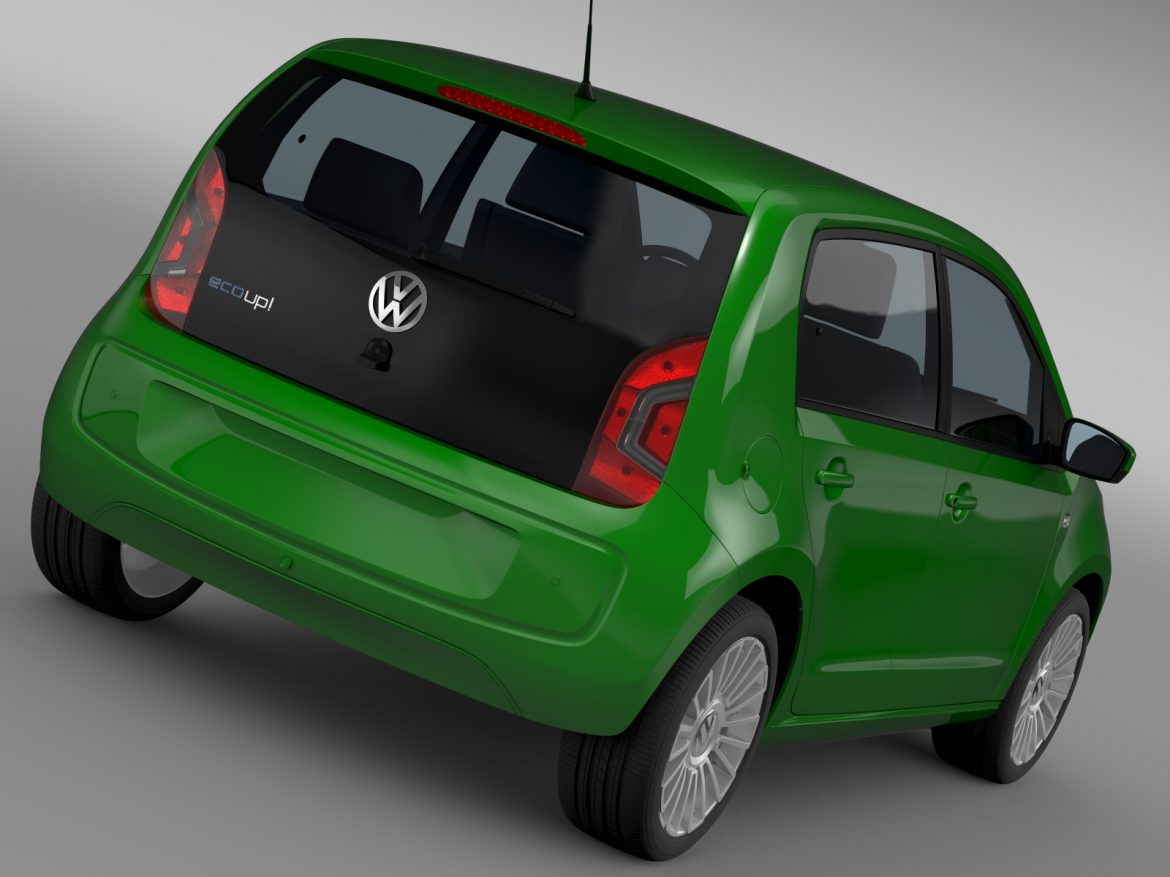 vw eco up 5 door 2013 3d model 3ds max fbx c4d lwo ma mb hrc xsi obj 209110