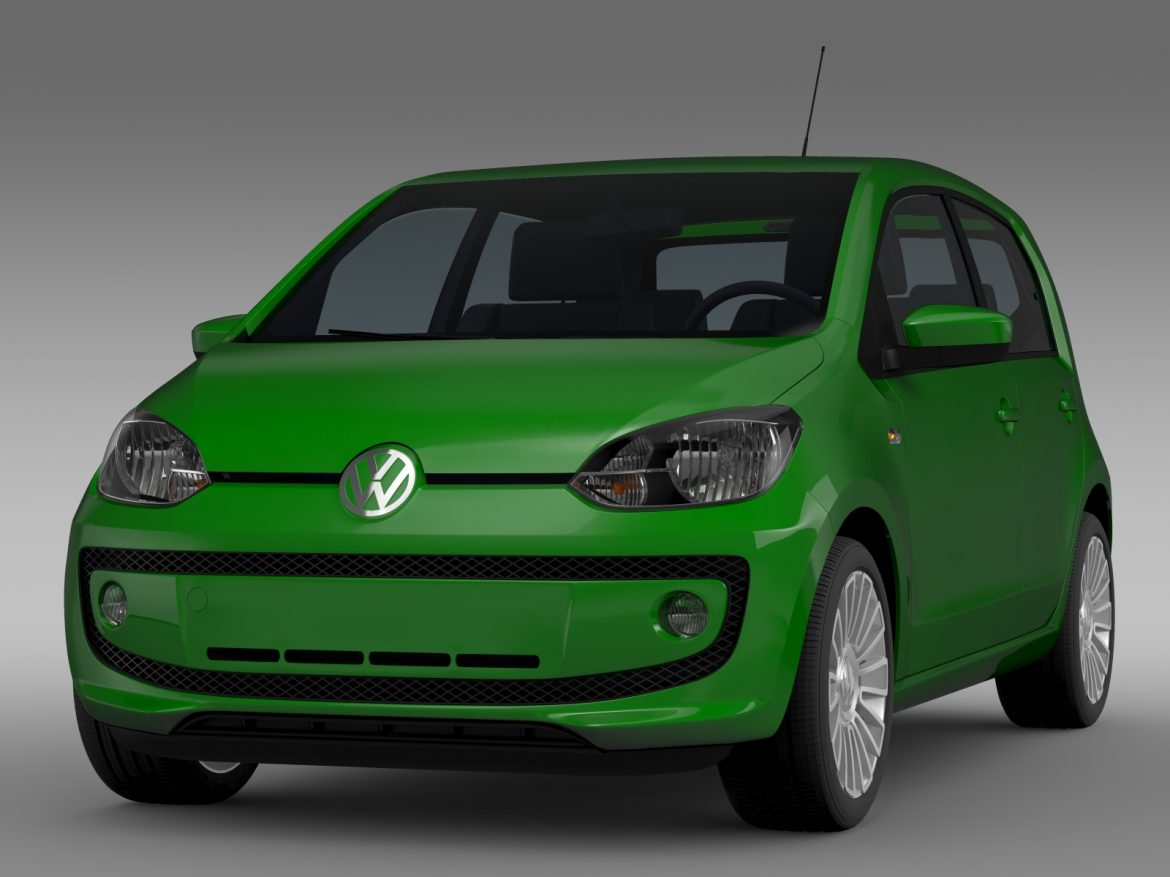 vw eco up 5 door 2013 3d model 3ds max fbx c4d lwo ma mb hrc xsi obj 209111