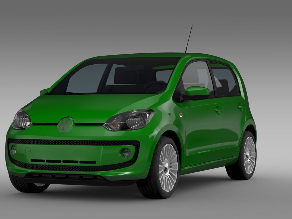 vw eco up 5 door 2013 3d model 3ds max fbx c4d lwo ma mb hrc xsi obj 209112