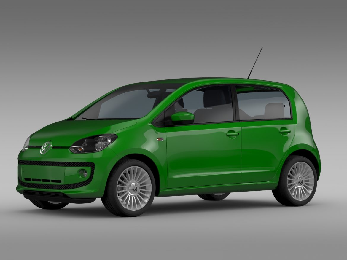 vw eco up 5 door 2013 3d model 3ds max fbx c4d lwo ma mb hrc xsi obj 209113