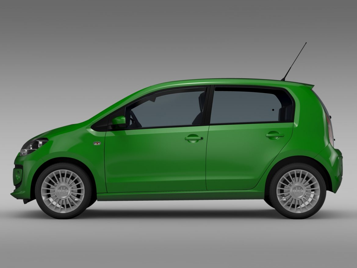 vw eco up 5 door 2013 3d model 3ds max fbx c4d lwo ma mb hrc xsi obj 209114