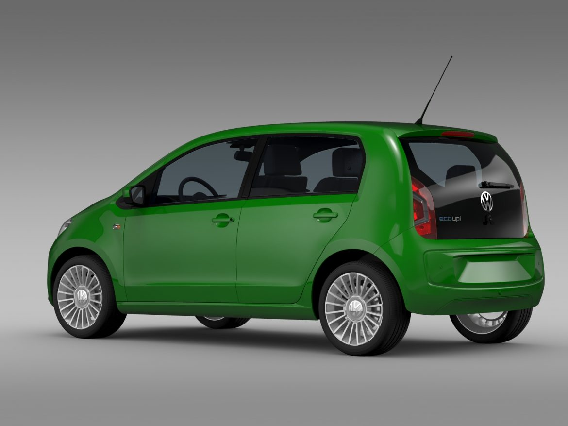 vw eco up 5 door 2013 3d model 3ds max fbx c4d lwo ma mb hrc xsi obj 209115