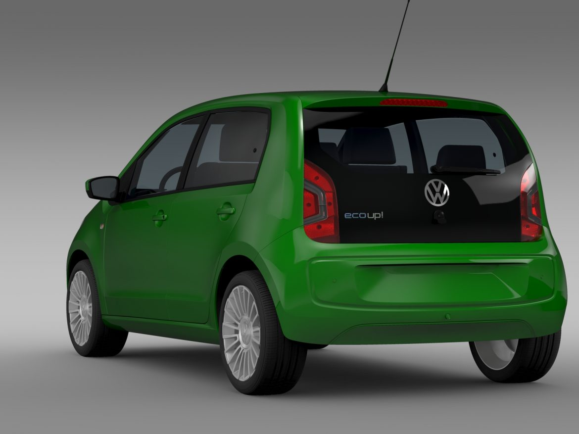 vw eco up 5 door 2013 3d model 3ds max fbx c4d lwo ma mb hrc xsi obj 209116